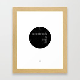 Bon Iver quote Framed Art Print