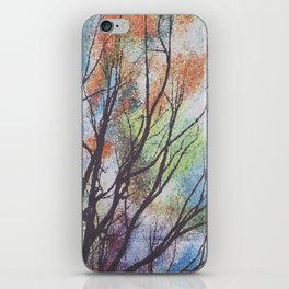 watercolor trees iPhone Skin