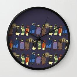 Victorian Penguins Wall Clock