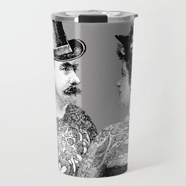 Tattooed Victorian Lovers Travel Mug