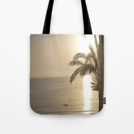 Tunisian African Beach Sunrise Tote Bag