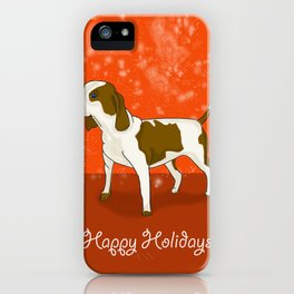Happy Puppy Holidays! iPhone Case