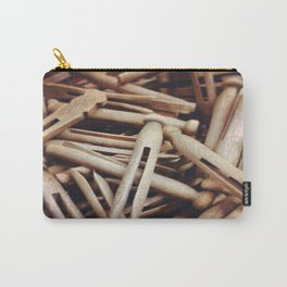 Wooden Pin-Up Carry-All Pouch