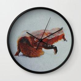 Wandering Fox Wall Clock