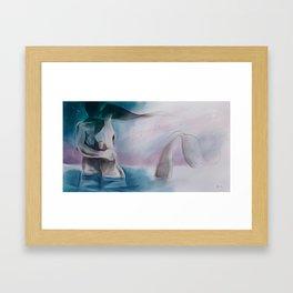 Mermaid?-Embraced couple-Nude Framed Art Print