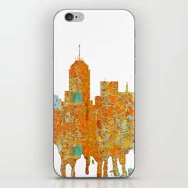 Fresno, California Skyline - Rust iPhone Skin