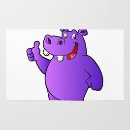 purple hippo Rug