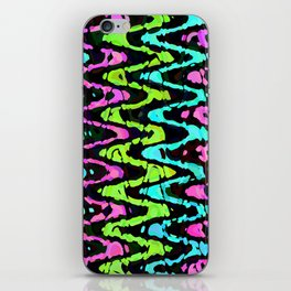Wavy Neon iPhone Skin