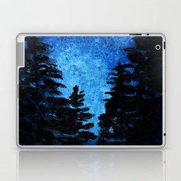 Blue Sky - Evergreen Trees Laptop & iPad Skin
