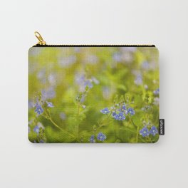 Beautiful blue speedwell flowerets Carry-All Pouch