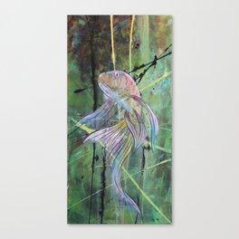 Green and Copper Koi 1 Canvas Print