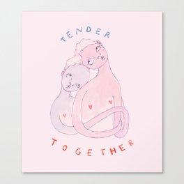 Tender Together Canvas Print