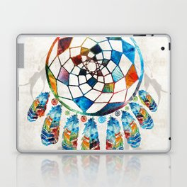Native American Colorful Dream Catcher by Sharon Cummings Laptop & iPad Skin