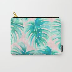 Paradise Palms Blush Carry-All Pouch