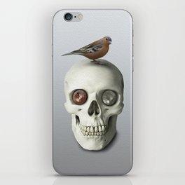 Skull & bird, watercolor iPhone Skin