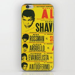 Ali vs Shavers iPhone Skin
