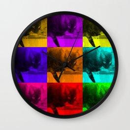 Chilly da Cat Collage POP ART Wall Clock
