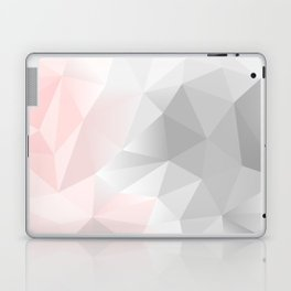 pink and gray geometric low poly background Laptop & iPad Skin