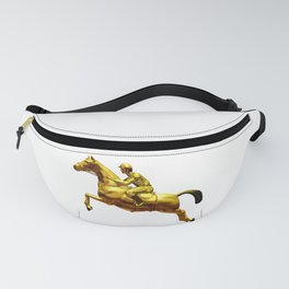 Horse Rider Gold Fanny Pack