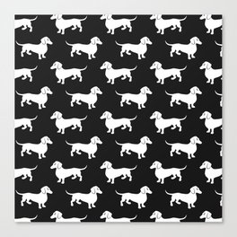 Dachshunds All Over Canvas Print