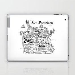 San Francisco Map Illustration Laptop & iPad Skin