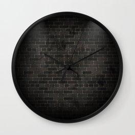 black wall Wall Clock