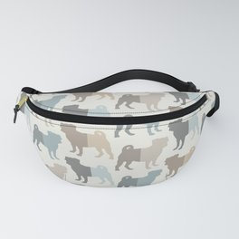 Pugs Pattern - Natural Colors Fanny Pack