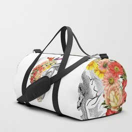 Flower Heart Spring White Duffle Bag