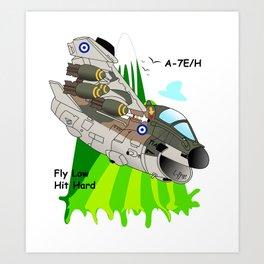 A-7E/H Aircraft Art Print