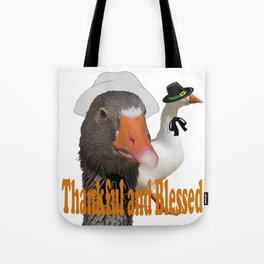 Thankful and Blessed Thanksgiving Pilgrims Tote Bag