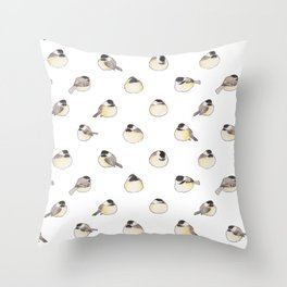 Bird no. 313: Chickadoodle-dee Throw Pillow