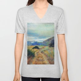 Fall nature landscape photography Unisex V-Neck