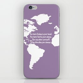 World Map with Dr. Seuss Quote iPhone Skin
