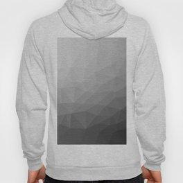 Grey Gradient Geometric Mesh Pattern Hoody