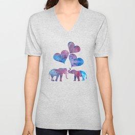 Elephants art Unisex V-Neck