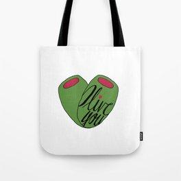 Olive You - Vegetable Puns Tote Bag