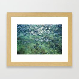 The Water of Bora Bora Framed Art Print