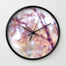 Glitter in the air Wall Clock