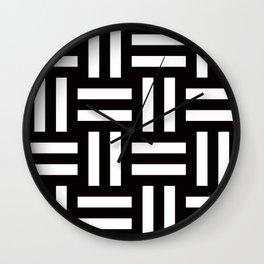 Geometric Pattern #35 (rail fence) Wall Clock