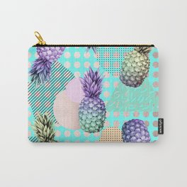 Pineapple Summer Rainbow Rose Gold Carry-All Pouch