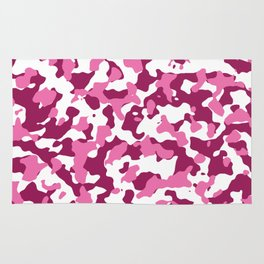 Girly Pink Camouflage Rug