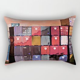 Colorful containers I Rectangular Pillow