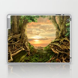 Sunset in wild forest Laptop & iPad Skin