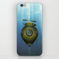 submarine iPhone & iPod Skins featuring Steampunk submarine by valzart