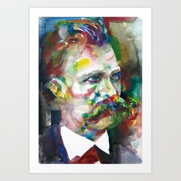 FRIEDRICH NIETZSCHE - watercolor portrait.4 Art Print