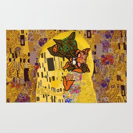 Kiss Klimt Cats Rug