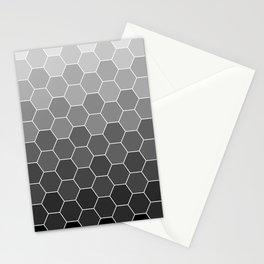 hexagon black Stationery Cards