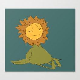 Happy Sunflower Creature Canvas Print
