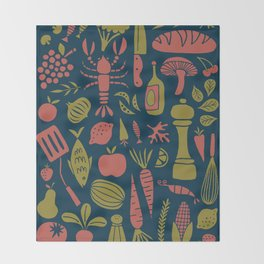Fresh Produce Throw Blanket