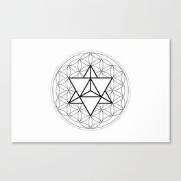 Sun Tetrahedron on Flower of Life Canvas Print